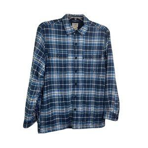 LL Bean Plaid Lined Flannel Button Shirt Jacket M